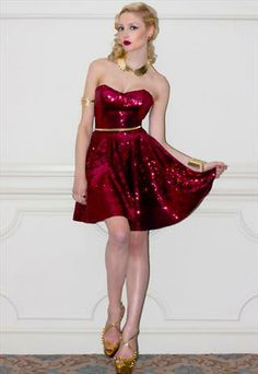 The Pollyanna Sequin Party Dress by Henry Hunt Burgundy Sequin Dress cfcfbe953bda