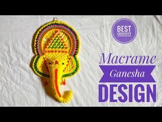 New Macrame Ganesha design | Macrame Ganesha tutorial - YouTube