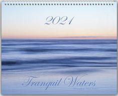 2021 Beach Calendar ~ 2021 Wall Calendar Gift ~ Nature Calendar ~ Ocean Calendar, National Parks Lakes, Tranquil Waters Glossy 11x14 Planner