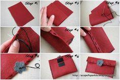 Handmade Felt Jewelry Bag Tutorial