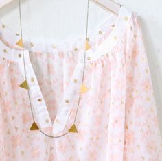 Golden Triangle Garland Necklace from Nest Pretty Things
