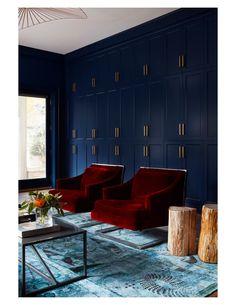 Electic Modern Family Room interior deisgn, Jen Talbot Design