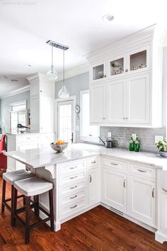 Corner Cabinetry - CLICK THE PICTURE for Various Kitchen Ideas. #kitchencabinets #kitchens