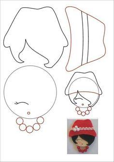 Make an Elegant Felt Brooch – DIY Style – Guidecentral – Needle Felting Cd Crafts, Doll Crafts, Fabric Crafts, Sewing Crafts, Diy And Crafts, Felt Dolls, Paper Dolls, Felt Brooch, Felt Patterns