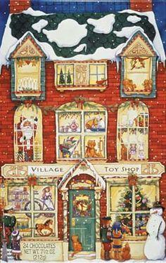 Village Toy Shop Chocolate Advent Calendar | Chocolate Advent Calendars | Vermont Christmas Co. VT Holiday Gift Shop