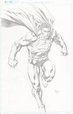 Superman sketch by David Finch