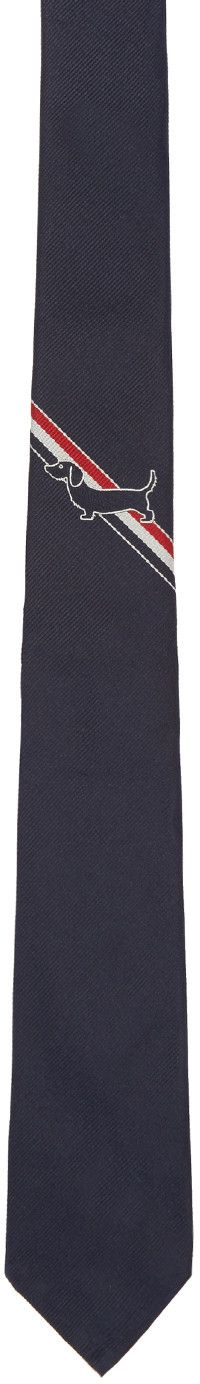 Thom Browne - Navy Striped Hector Tie
