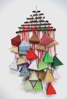 Adventskalender - Adventskalender - Weihnachtsbaum - ein Designerstück von paperfun bei DaWanda