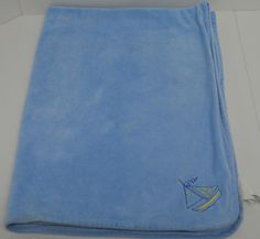 """Expectations Baby Martex Blue Baby Security Blanket Velour Sailboat 28"""" x 38"""" #BabyMatrex http://stores.ebay.com/Lost-Loves-Toy-Chest/_i.html?image2.x=23&image2.y=12&_nkw=baby+blanket"""