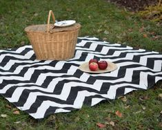 Chevron picnic blanket by Sewn Natural   Cool Mom Picks