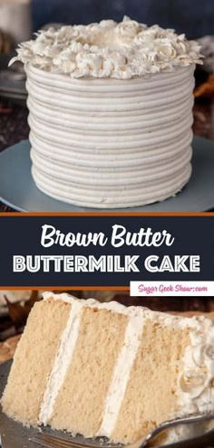 Brown butter cake has a soft and fluffy crumb that literally melts in your mouth . - Sugar Geek Show Recipes - Dessert Brownie Desserts, Oreo Dessert, Mini Desserts, Dessert Recipes, Layer Cake Recipes, Delicious Desserts, Vanilla Bean Frosting, Vanilla Cake, Piping Buttercream