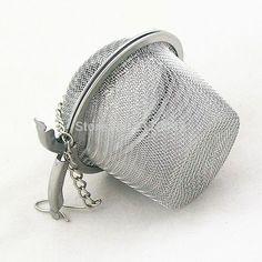 5pcs Reusable Stainless Steel Tea Filter Infusor Silver Mesh Spice Tea Strainer Herbal Ball Tea Bag