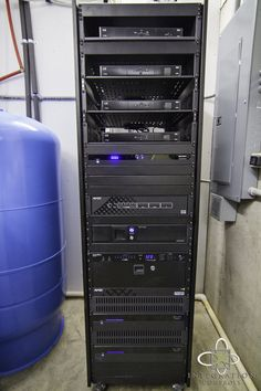 Even though this rack isn't the visual highlight of the system, it is the backbone of running all operations, thus, it is organized and placed in a cool environment so it can run for years to come.