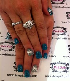 Bling and Bow Nails