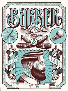 Vanity fair barber shop by  hello shane Paris, France, on Behance |  Art Direction |  Graphic Design | Illustration | Drawing | Draw | Vintage | Old | Retro | Barber | Man |