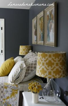 Gray Bedroom Ideas, Gray Master Bedroom Ideas, Purple and Gray Bedroom Paint Ide… – Top Trend – Decor – Life Style Bedroom Colors, Home Decor Bedroom, Bedroom Ideas, Bedroom Styles, Bedroom Furniture, Ochre Bedroom, Mustard Bedroom, Suites, Deco Design