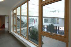Seniors Hybrid aluminium timber composite window.