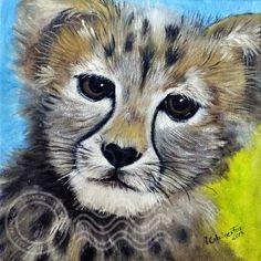Cheetah,Boy nursery Cheetah Fine Art print,Glicee Boys room, Zoo print, Animals prints,Whimsical Boys Art, 12x12,ArtbyAfox by ArtbyAFox for $50.00 #zibbet