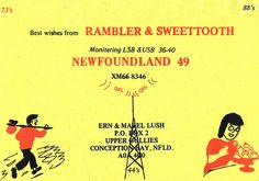 'Rambler & Sweettooth'. From private collection of CB radio QSL cards of the 60s, 70s and 80s. QSL cards were personalized postcards that were used as a record of contact between CB radio operators.