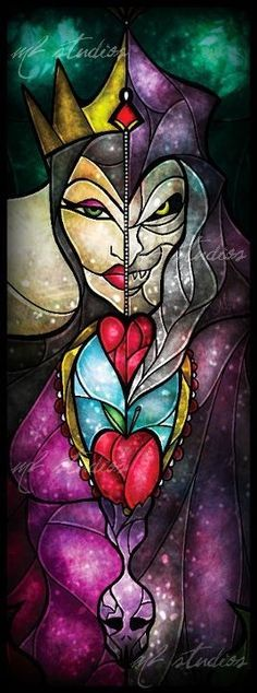 Evil Queen stained glass