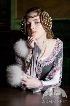 Mittelalter Kleid Rowena, Hochzeitskleid