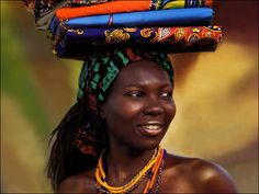 Textile Vendor - Senegal, West Africa