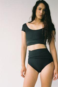 8232b51abdadf Connie Bikini Textured Black Black Bathing Suit Top, Bathing Suits,  Beachwear 2018, Swimsuit