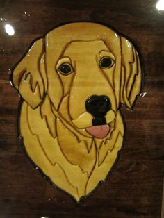 Intarsia Wood Dog