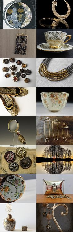 A Touch of Gold by Robyn Kennedy on Etsy--Pinned with TreasuryPin.com