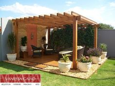 Pergola For Small Patio Backyard Seating, Backyard Patio Designs, Outdoor Pergola, Pergola Designs, Pergola Plans, Backyard Landscaping, Patio Ideas, Swimming Pools Backyard, Cheap Pergola