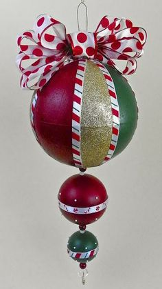 Giant Christmas Ornament with Americana Multi-surface paints