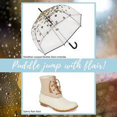 Stylish Raincoats, Rain Fashion, Sperrys, Rain Boots, Rain Boot