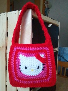 Hello Kitty crochet purse!