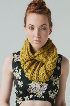 Snail twist cowl by Laura Irwin - pdf pattern for sale on Etsy.