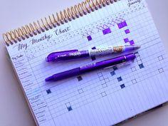 Monthly Organization Chart via My Purpley Life