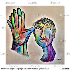 American Sign Language GRANDFATHER Poster