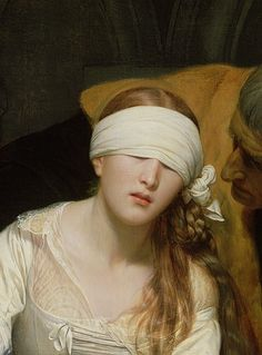 Hippolyte Delaroche, The Execution of Lady Jane Grey (detail)