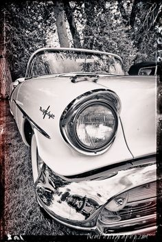 12x18 in. Black and White Hot Rod Oldsmobile 98 Poster Vintage Garage Art