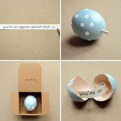 Message in an egg | 40 Creative Easter Eggs