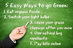 Easy ways to go green, anyone can start going green with these simple tips! via www.discountfilters.com/blog