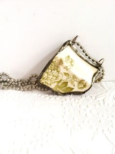 Broken Antique China Necklace Shattered Dish Jewelry by Mystarrrs