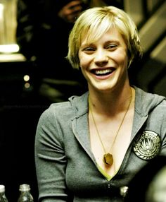 The rare smile from Starbuck. Sci Fi Series, Tv Series, Sci Fi Shows, Tv Shows, Battlestar Galactica 1978, Timeless Series, Katee Sackhoff, Best Sci Fi, Geek Girls