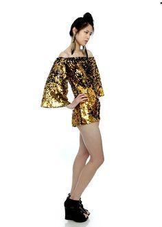 Carmelita Couture ~gold #gold #metallicgold #metallicfashions #goldfashions