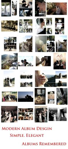 www.albumsremembered.com Free custom #wedding #album #design service