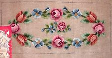 EP 2932 Dritz Madeira Vintage Small Floral Purse Preworked Needlepoint Canvas