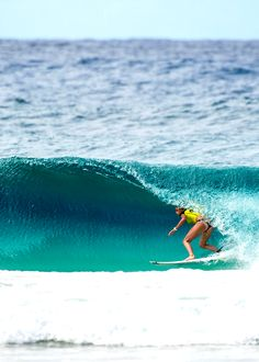 Lakey Peterson going for the tube!