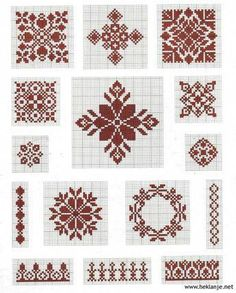 Tina's handicraft : 148 different designs for woven, knitted, crochet and embroidery Biscornu Cross Stitch, Cross Stitch Borders, Modern Cross Stitch, Cross Stitch Flowers, Cross Stitch Designs, Cross Stitching, Cross Stitch Embroidery, Hand Embroidery, Embroidery Patterns