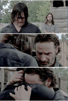 The Walking Dead Season 7 Episode 8 'Hearts Still Beating' Rick Grimes and Daryl Dixon