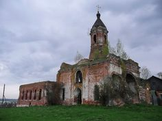 God-forsaken: Abandoned churches and cathedrals of Russia - 31 / Church of St. Nicholas, 16 century. The village of Cherlenkovo, Moscow Oblast