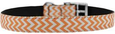 Mirage Pet Products Chevrons Nylon Dog Collar with Classic Buckle, Size 18, Orange -- Learn more by visiting the image link. (This is an affiliate link and I receive a commission for the sales)